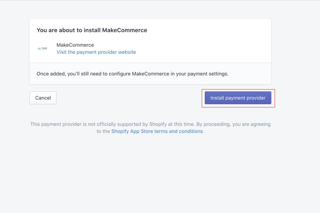 Install makecommerce