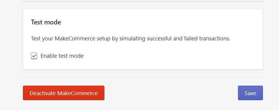 MakeCommerce test